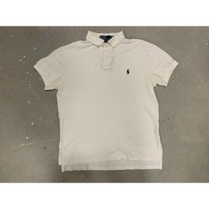 Polo by Ralph Lauren White Embroidered Polo Sz M
